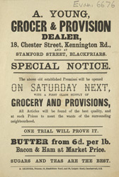 Advert For A. Young, Grocer
